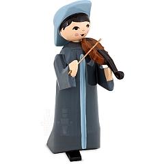 Musikant mit Geige 7 cm lackiert
