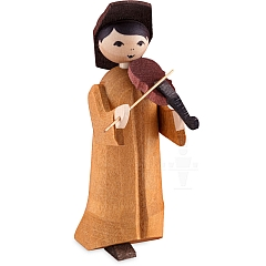 Musikant mit Geige 7 cm gebeizt