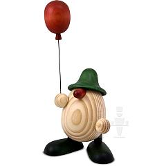 Eierkopf Otto mit Luftballon grün