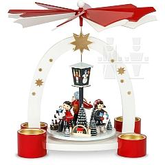 Bogenpyramide Teelicht Erzgebirgische Weihnacht lackiert limitiert