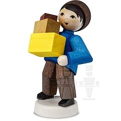 Weihnachtspost Junge mit Paketen gebeizt von Ulmik