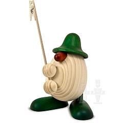 Eierkopf Willi mit Klammer grün