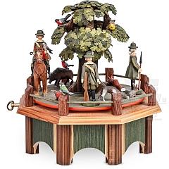 Spieldose Jagdaufzug mit Eiche