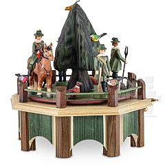 Spieldose Jagdaufzug mit Tanne
