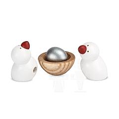 2 Vögel und Nest mit Ei zum Apfelbaum