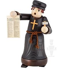 Räuchermann Luther mit Anschlag • gebeizt