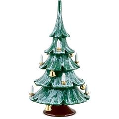 Weihnachtsbaum farbig mit Glöckchen und Kugeln