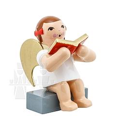 Schleifenengel sitzend mit Buch