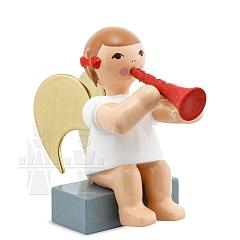 Schleifenengel sitzend mit Klarinette