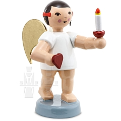 Schleifenengel mit Herz und Kerze 6 cm