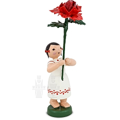 Sommerblumenmädchen mit Rose