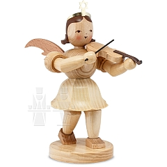 Kurzrockengel Naturholz mittelgroß mit Violine