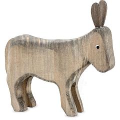Esel stehend gebeizt für 13 cm Krippenfiguren