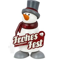 Schneemann Fritz Frohes Fest
