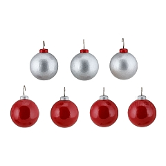 Christmas tree balls for firs silver red