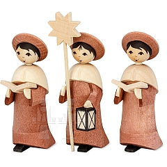 Carolers rosewood stained 7 cm