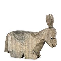 Esel liegend gebeizt für 13 cm Krippenfiguren