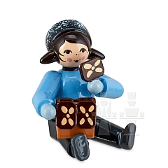 Girl with Gingerbread House blue from Ulmik