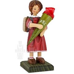 Schulanfängermädchen rotes Kleid