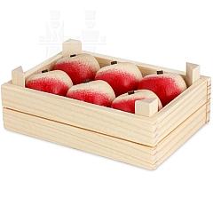 Obststiege mit Äpfel