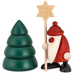 Set 5 Weihnachtsmann mit Stern und Baum