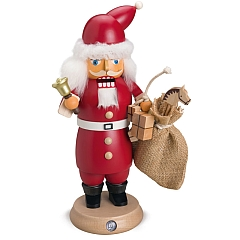 RauchKnacker® Weihnachtsmann mit Glocke und Geschenkesack