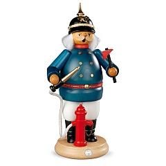 Räuchermann groß Historischer Feuerwehrmann