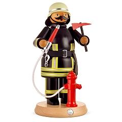 Räuchermann groß Feuerwehrmann in zeitgemäßer Uniform