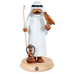 Räuchermann groß Araber mit Falke und Shisha