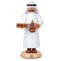Räuchermann groß Araber mit rauchender Kaffeekanne und 7 Tassen