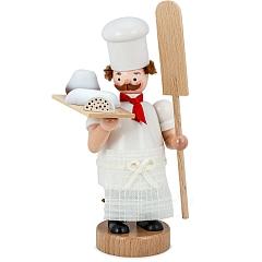 Räuchermann Wichtel Bäcker mit Christstollen