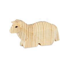 Schaf liegend natur für 7 cm Krippenfiguren