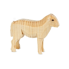 Schaf stehend natur für 7 cm Krippenfiguren