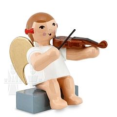 Schleifenengel sitzend mit Geige