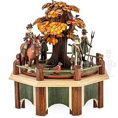Spieldose Jagdaufzug mit Eiche Herbstfärbung