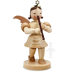 Angel short skirt natural wood 20 cm with Recorder