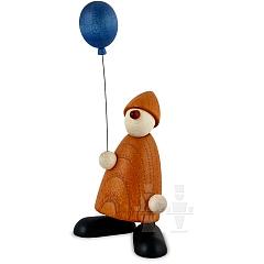 Gratulant Linus mit blauem Luftballon
