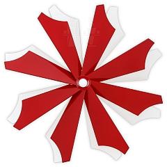 Flügelrad Rot - Weiß lackiert