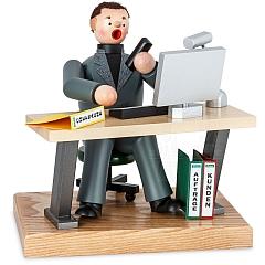Räuchermann am Computer