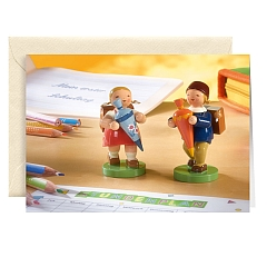 Grußkarte Schulanfang mit Briefumschlag