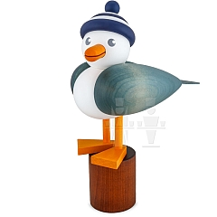 Seagull large light blue with striped hat blue