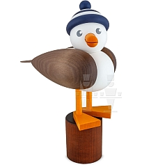 Seagull large grey with striped hat blue