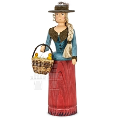Rattle Doll turquoise - red with Basket