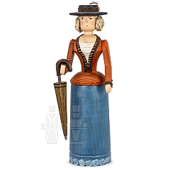 Rattle Doll ocher - blue with Umbrella