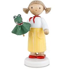Mädchen mit Krokodil