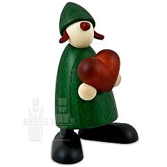 Gratulantin Thea grün mit Herz