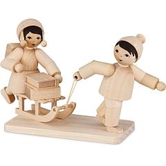 Kinderpaar Schneefrei natur von Ulmik