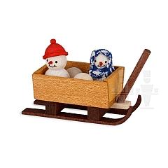 Schneemannkinder im Schlitten gebeizt von Ulmik