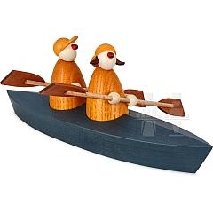 Ole & Svenja im Paddelboot Zweier gelb