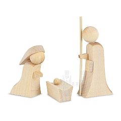 ML Maria and Joseph with crib natural wood